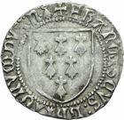 Photo numismatique  MONNAIES BARONNIALES Duché de BRETAGNE FRANÇOIS II (1458-1488) Blanc à l'écu.