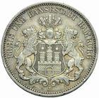 Photo numismatique  MONNAIES MONNAIES DU MONDE ALLEMAGNE HAMBOURG, Ville libre 3 Mark de 1909.