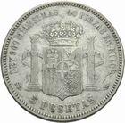 Photo numismatique  MONNAIES MONNAIES DU MONDE ESPAGNE AMADEO Ier (1871-1873) 5 pesetas 1871.