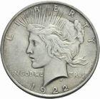 Photo numismatique  MONNAIES MONNAIES DU MONDE ÉTATS-UNIS d'AMÉRIQUE du NORD  Dollar 1922.