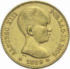 Photo numismatique  MONNAIES MONNAIES DU MONDE ESPAGNE ALPHONSE XIII (1886-1931) 20 pesetas or.