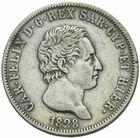 Photo numismatique  MONNAIES MONNAIES DU MONDE ITALIE SAVOIE-SARDAIGNE, Charles Félix (1821-1831) 5 lire 1828.