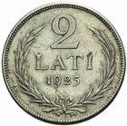 Photo numismatique  MONNAIES MONNAIES DU MONDE LETTONIE République (depuis 1918) 2 lati 1925.