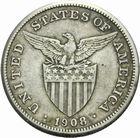 Photo numismatique  MONNAIES MONNAIES DU MONDE PHILIPPPINES Sous administration américaine. 1 peso 1908.