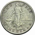 Photo numismatique  MONNAIES MONNAIES DU MONDE PHILIPPPINES Sous administration américaine. 1 peso 1909.
