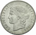 Photo numismatique  MONNAIES MONNAIES DU MONDE SUISSE CONFEDERATION 5 francs de 1890.