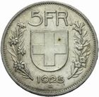Photo numismatique  MONNAIES MONNAIES DU MONDE SUISSE CONFEDERATION 5 francs de 1925.