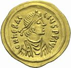 Photo numismatique  MONNAIES EMPIRE BYZANTIN HERACLIUS (610-641)  Semissis.