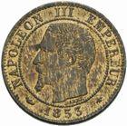 Photo numismatique  MONNAIES MODERNES FRANÇAISES NAPOLEON III, empereur (2 décembre 1852-1er septembre 1870)  Un centime.