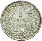 Photo numismatique  MONNAIES MODERNES FRANÇAISES 3ème REPUBLIQUE (4 septembre 1870-10 juillet 1940)  1 franc.