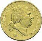 Photo numismatique  MONNAIES MODERNES FRANÇAISES LOUIS XVIII, 2e restauration (8 juillet 1815-16 septembre 1824)  40 francs or.