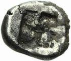 Photo numismatique  MONNAIES GRECE ANTIQUE GAULE Types du trésor d'Auriol (Ve siècle) Tritartémorion milésiaque (475-460).
