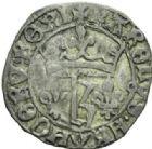 Photo numismatique  MONNAIES ROYALES FRANCAISES CHARLES VII (30 octobre 1422-22 juillet 1461)  Petit blanc au K. 1e émission, Tours.