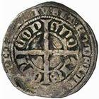 Photo numismatique  MONNAIES VOLEES BARONNIALES Evêché de CAMBRAI PIERRE IV d'André (1349-1368) Gros au lion, imitation du gros compagnon de Flandre.