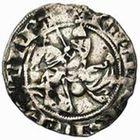 Photo numismatique  MONNAIES VOLEES BARONNIALES Seigneurie d'ARLEUX JEAN de Flandre (1308/1310-1324) Baudekin à la lance (1312).