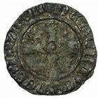 Photo numismatique  MONNAIES VOLEES BARONNIALES Seigneurie d'ELINCOURT WALLERAN III de LUXEMBOURG, comte de Ligny et Saint-Pol (1371-1415) Tiercelle ou Tiers de gros au chevalier.