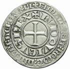 Photo numismatique  MONNAIES ROYALES FRANCAISES LOUIS IX, Saint Louis (3 novembre 1226-24 août 1270)  Gros tournois au croissant.
