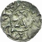 Photo numismatique  MONNAIES CAROLINGIENS CONRAD LE PACIFIQUE, roi de Bourgogne (937-993)  Denier de Lyon.