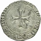 Photo numismatique  MONNAIES BARONNIALES Duché de BRETAGNE FRANÇOIS II (1458-1488) Blanc à la targe de Nantes.