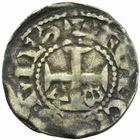 Photo numismatique  MONNAIES BARONNIALES Comté d'ANJOU Immobilisation du type de Foulques V (1109-1129) Denier.
