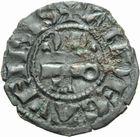 Photo numismatique  MONNAIES BARONNIALES Comté d'ANJOU CHARLES II d'Anjou (1285-1290) Denier.