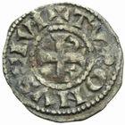Photo numismatique  MONNAIES BARONNIALES Abbaye de SAINT-MARTIN de TOURS (XIIe-XIIIe siècles) Obole.