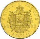 Photo numismatique  MONNAIES MODERNES FRANÇAISES NAPOLEON III, empereur (2 décembre 1852-1er septembre 1870)  50 francs or.