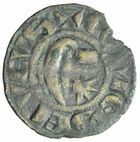 Photo numismatique  MONNAIES BARONNIALES Comté de NEVERS HERVE de Donzy (1199-1223) Denier.