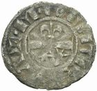 Photo numismatique  MONNAIES BARONNIALES Comté de NEVERS MAHAUT II (1241-1257) Denier.
