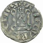 Photo numismatique  MONNAIES BARONNIALES Comté d'AUVERGNE ALPHONSE de Poitiers (1241-1271) Denier de Riom.