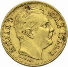 Photo numismatique  MONNAIES MONNAIES DU MONDE SERBIE MILAN Ier, roi (1882-1889) 2 0dinars or de 1882.