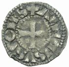 Photo numismatique  MONNAIES BARONNIALES Comté de POITIERS ALPHONSE de France (1241-1271) Obole.