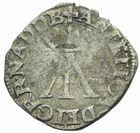 Photo numismatique  MONNAIES BARONNIALES Seigneurie de BEARN ANTOINE de Bourbon et JEANNE d'Albret (1555-1562) Liard à la croix plaine.