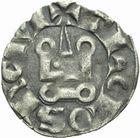 Photo numismatique  MONNAIES BARONNIALES Comté de TOULOUSE ALPHONSE de France (1249-1271) Denier de la 1ère émission.