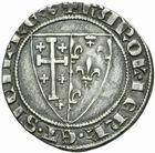 Photo numismatique  MONNAIES BARONNIALES Comté de PROVENCE CHARLES II (1285-1309) Salut d'argent frappé comme roi de Sicile.