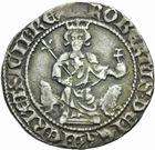 Photo numismatique  MONNAIES BARONNIALES Comté de PROVENCE ROBERT d'ANJOU (1309-1343) Carlin frappé comme roi de Sicile.