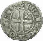 Photo numismatique  MONNAIES BARONNIALES Comté de PROVENCE ROBERT d'ANJOU (1309-1343) Denier coronat reforciat.