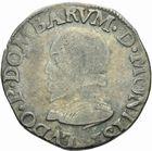 Photo numismatique  MONNAIES BARONNIALES Principauté des DOMBES LOUIS II de Bourbon-Montpensier (1560-1582) Teston de 1577.