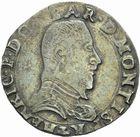 Photo numismatique  MONNAIES BARONNIALES Principauté des DOMBES HENRI II de Montpensier (1592-1608) Teston de 1605.