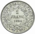 Photo numismatique  MONNAIES MODERNES FRANÇAISES 3ème REPUBLIQUE (4 septembre 1870-10 juillet 1940)  1 franc 1894.