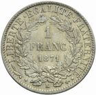 Photo numismatique  MONNAIES MODERNES FRANÇAISES 3ème REPUBLIQUE (4 septembre 1870-10 juillet 1940)  1 franc 1871.