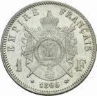 Photo numismatique  MONNAIES MODERNES FRANÇAISES NAPOLEON III, empereur (2 décembre 1852-1er septembre 1870)  1 franc 1866.