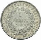 Photo numismatique  MONNAIES MODERNES FRANÇAISES 2ème RÉPUBLIQUE (24 février 1848-2 décembre 1852)  1 franc 1850.