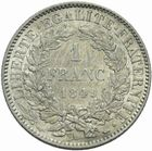 Photo numismatique  MONNAIES MODERNES FRANÇAISES 2e REPUBLIQUE (24 février 1848-2 décembre 1852)  1 franc 1849.