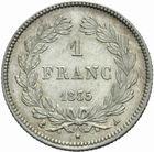 Photo numismatique  MONNAIES MODERNES FRANÇAISES LOUIS-PHILIPPE Ier (9 août 1830-24 février 1848)  1 franc 1835.