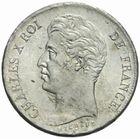 Photo numismatique  MONNAIES MODERNES FRANÇAISES CHARLES X (16 septembre 1824-2 août 1830)  1 franc 1827.