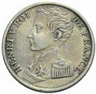 Photo numismatique  MONNAIES MODERNES FRANÇAISES HENRI V, prétendant (29 septembre 1820-1883)  1 franc 1831.