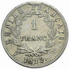 Photo numismatique  MONNAIES MODERNES FRANÇAISES NAPOLEON Ier, empereur (18 mai 1804- 6 avril 1814)  1 franc 1812.