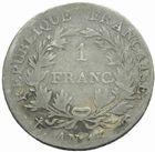 Photo numismatique  MONNAIES MODERNES FRANÇAISES NAPOLEON Ier, empereur (18 mai 1804- 6 avril 1814)  1 franc an 12.