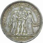 Photo numismatique  MONNAIES MODERNES FRANÇAISES 3ème REPUBLIQUE (4 septembre 1870-10 juillet 1940)  5 francs 1870.